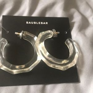 Lucite Clear Earrings